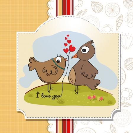 love birds, romantic illustration Stock Vector - 17671861