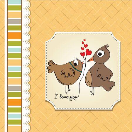 love birds, romantic illustration Stock Vector - 17671834
