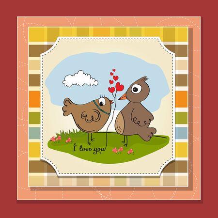 love birds, romantic illustration Stock Vector - 17671774