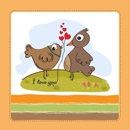 love birds, romantic illustration Stock Vector - 17671721