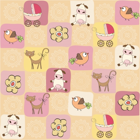 childish seamless pattern with toys Stock Vector - 17671903