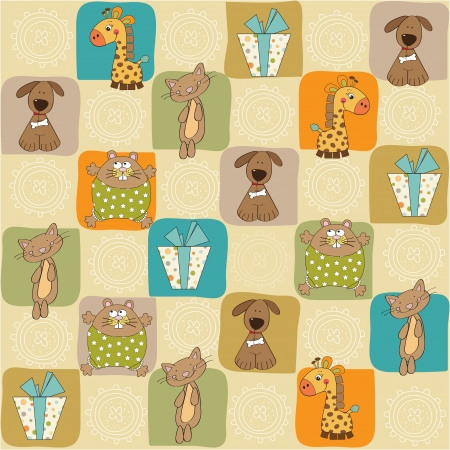 baby gift: childish seamless pattern with toys