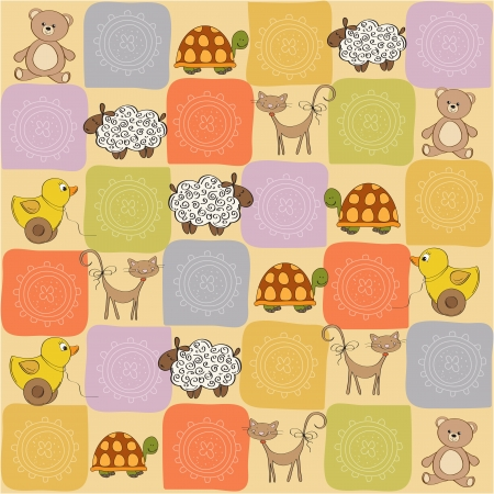 toys pattern: childish seamless pattern with toys