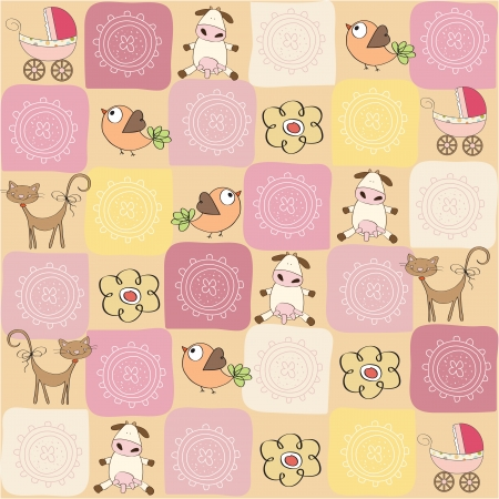 childish seamless pattern with toys Stock Vector - 17671900