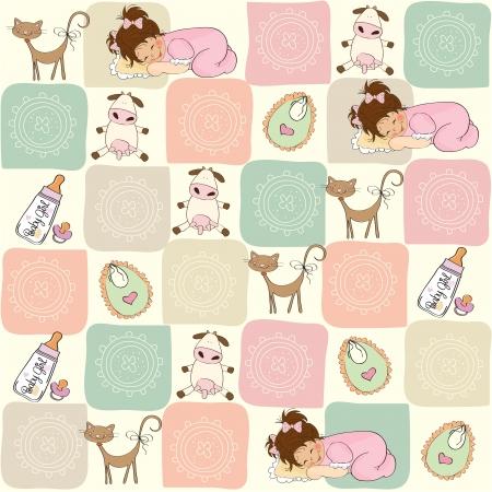 droll: childish seamless pattern with toys
