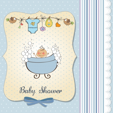 baby boy shower card Stock Vector - 18117759