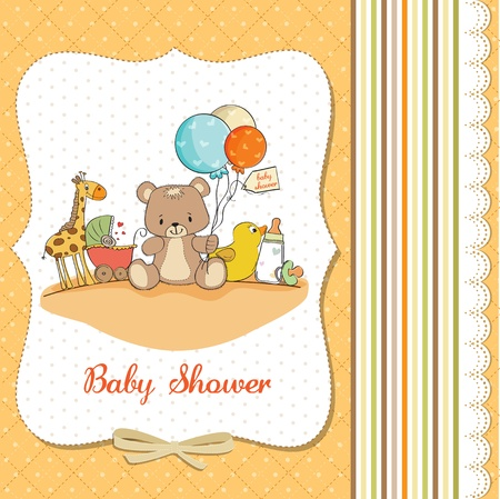 nestling: baby shower card with toys