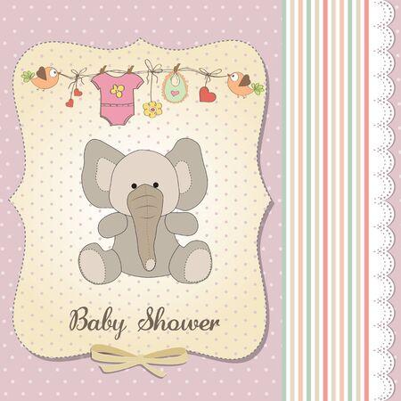 happy birthday girl: romantic baby girl announcement card