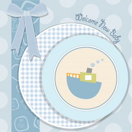 welcome baby: baby shower invitation in vector format