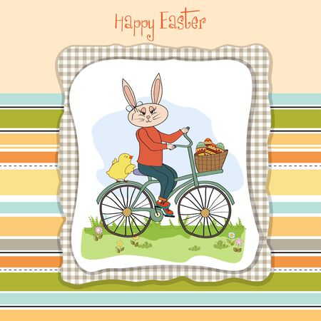 hamper: Easter bunny with a basket of Easter eggs