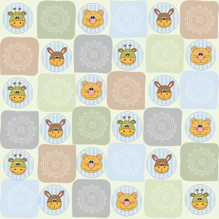 childish seamless pattern with toys, vector illustration Vector
