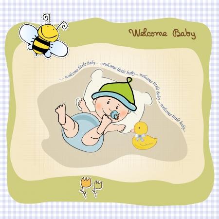 babyboy shower card, illustration in vector format