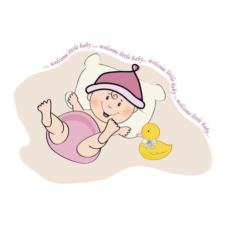 Carte de douche de bébé, illustration au format vectoriel Banque d'images - 20014685
