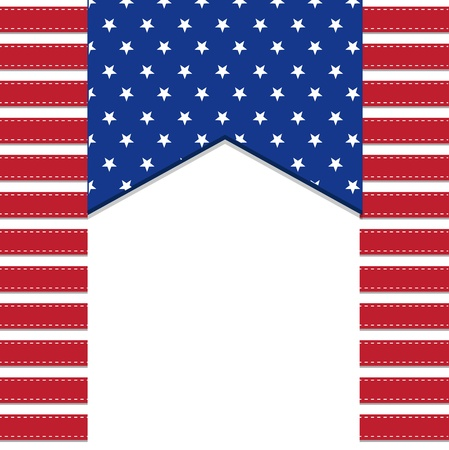 American flag background with stars symbolizing 4th july independence day, illustration in vector format Vector