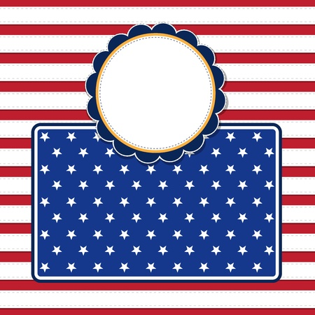 4 july: American flag background with stars symbolizing 4th july independence day, illustration in vector format