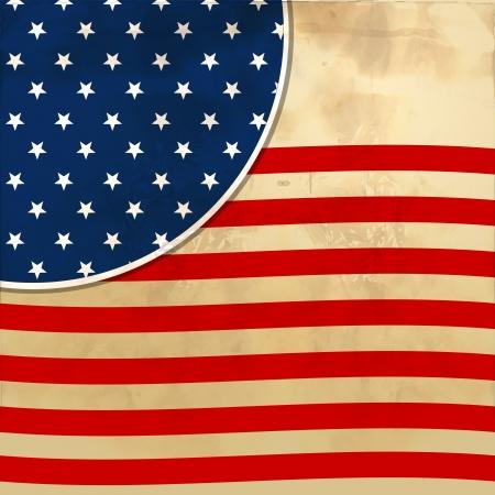 7 月 4 日独立記念日、ベクトル形式のイラストを象徴する星とアメリカの国旗の背景
