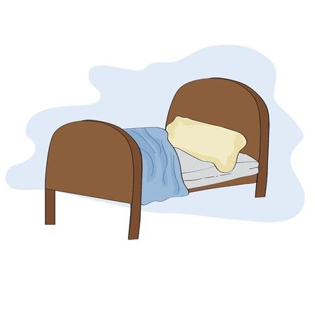 벡터 형식으로 아이 침대, 그림 일러스트