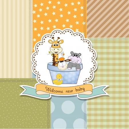 Baby-Dusche Ankündigung Karte im Vektor-Format Standard-Bild - 20720872