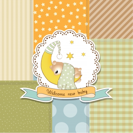 adoring: baby shower announcement card in vector format