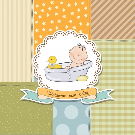 Carte de douche babyboy, illustration au format vectoriel Vecteurs