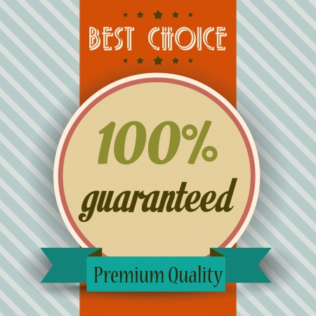 retro illustration of a  best choice message, vector format Vector