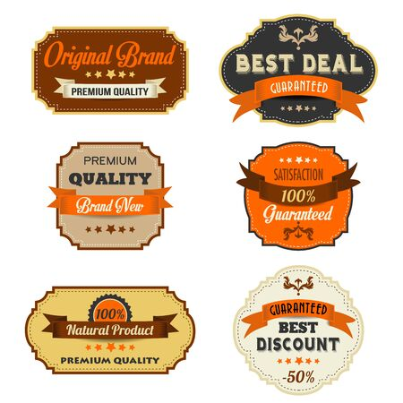 Set of vintage retro labels, illustration in vector format Vector