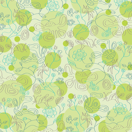 seamless floral background, illustration in vector format Vector