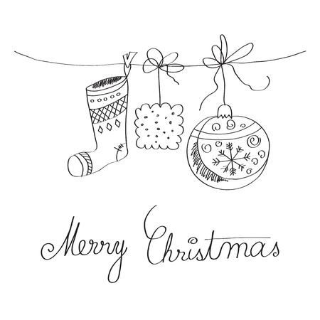 Christmas card, illustration in vector format Vector