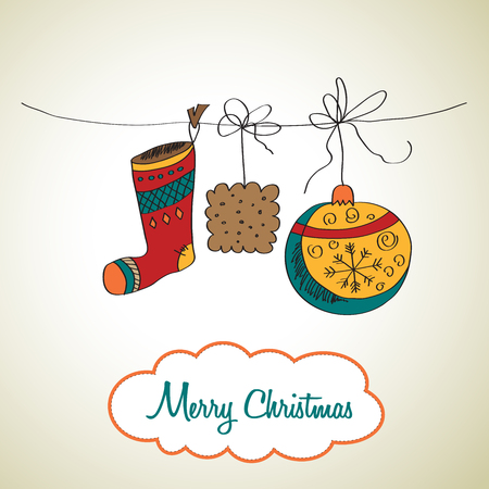 christmassy: Christmas card, illustration in vector format Illustration