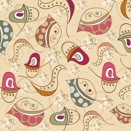 seamless pattern with leaf, illustration in vector format Vector