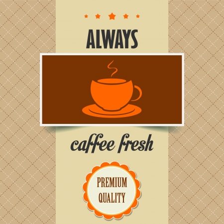 brewing house: vintage coffee poster, vector illustration Illustration