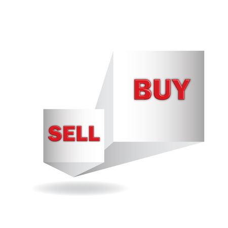 exporter: buy and  sell, 3d sign in format