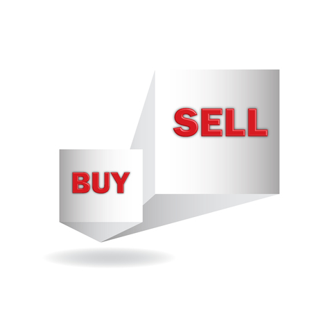 importer: buy and  sell, 3d sign in vector format Illustration