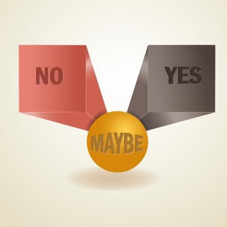 indeciso: S�, no, tal vez, la muestra 3d