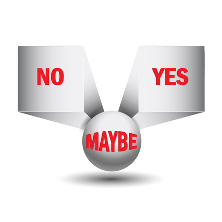 Yes, no, maybe, 3d sign Stock Vector - 24988680