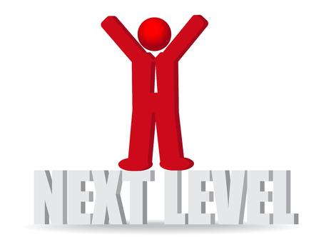 Business man, person. Next level. Progress concept.Vector Illustration Vector