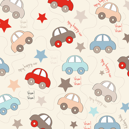 seamless background with cars, vector illustration Vector