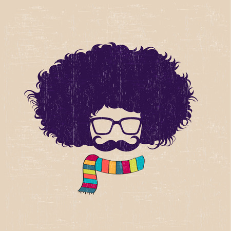 Fashion silhouette in  hipster style, vector illustration Vector
