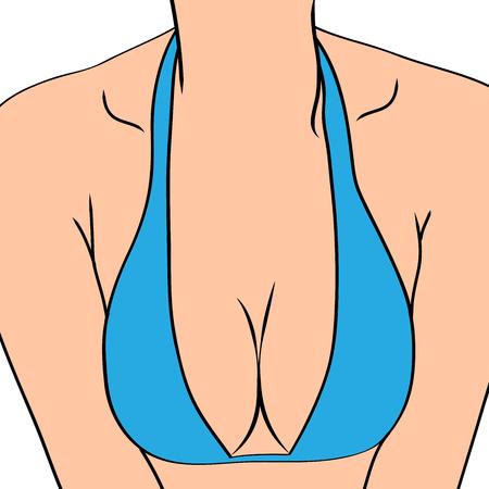 Female sexy breast, vector illustration