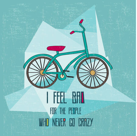 hipster bicycle illustration in vector format Vector