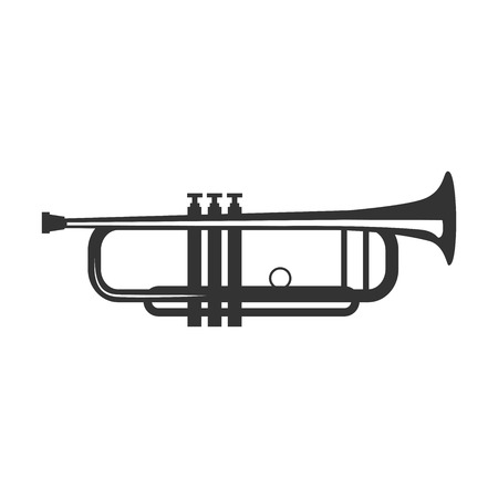 band instruments: Vector trumpet isolated on a white background