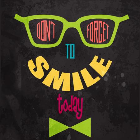 cara sonriente: No se olvide de sonreír! Fondo de motivación en formato vectorial Vectores