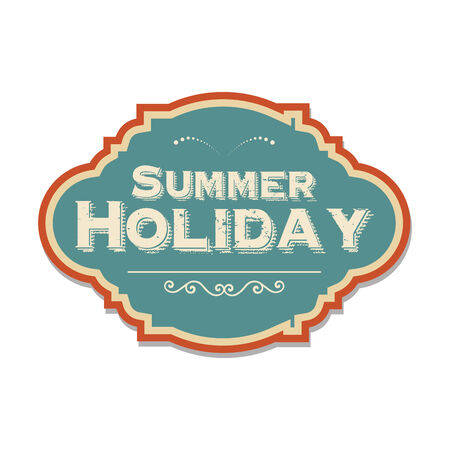 retro summer holiday  label, illustration in vector format Vector