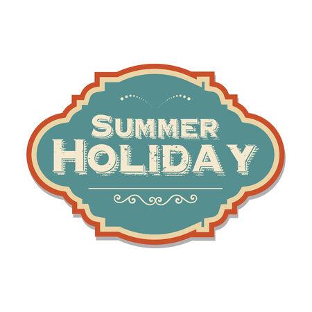 retro summer holiday  label, illustration in vector format Vector