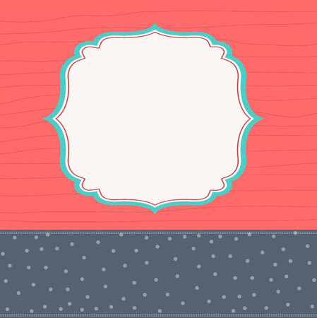 Template frame design for greeting card, vector illustration Vector