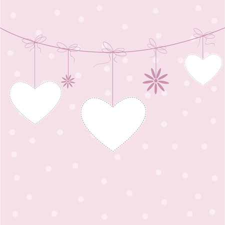 Template design for greeting card, vector illustration Vector