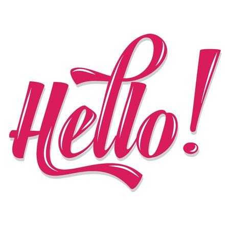 """Kalligrafische Schrijven """"Hello"""", vector illustratie"""