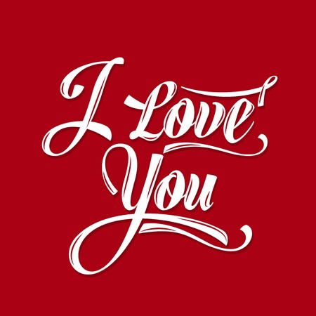 Calligraphic  Writing i love you, vector illustration Vector