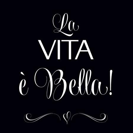 「La vita e ベラ」、引用文字体裁背景  イラスト・ベクター素材