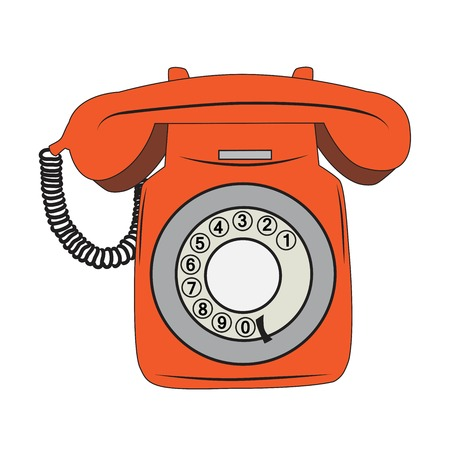 rotary: retro phone, illustration in vector format